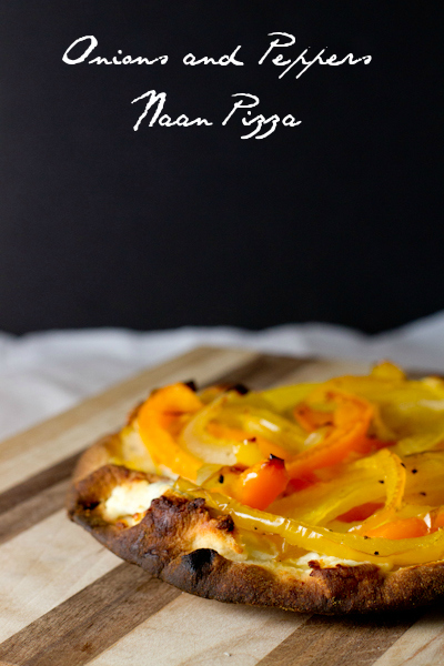 onions and peppers naan pizzas - poet in the pantry