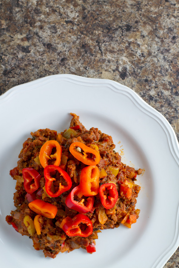 Bacon Chili with Peppers