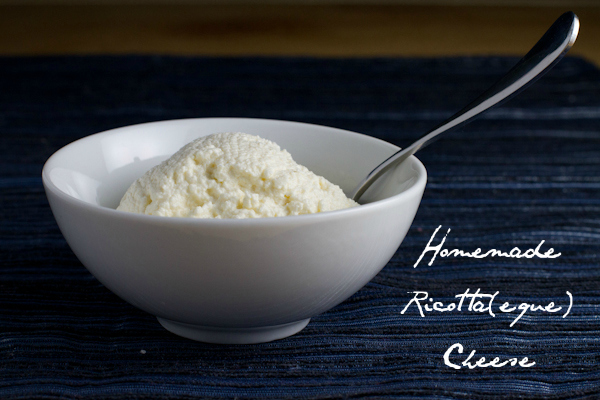 Homemade Ricotta(eque) Cheese  - poet in the pantry