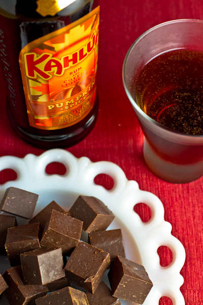 Kahlúa Pumpkin Spice Fudge and Martini - poet in the pantry