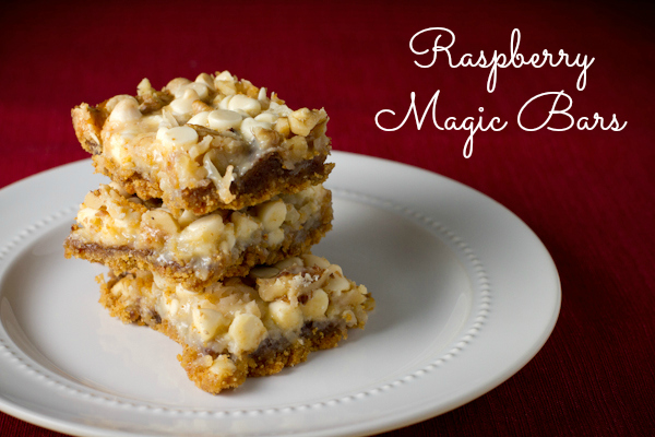 Raspberry Magic Cookie Bars - poet in the pantry