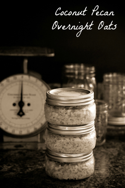 Coconut Pecan Overnight Oats - poet in the pantry