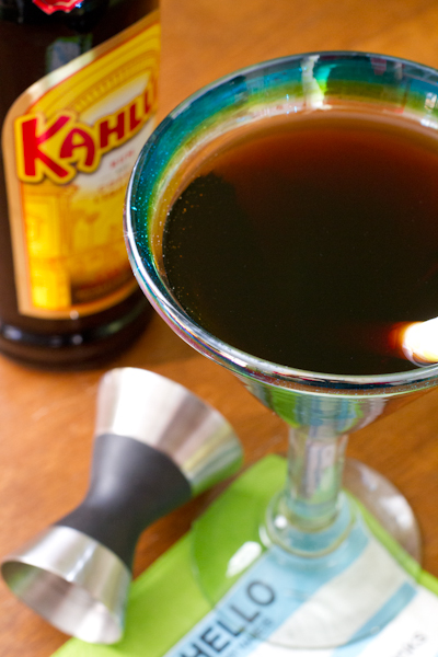 Kahlúa Moonshine Martini - poet in the pantry