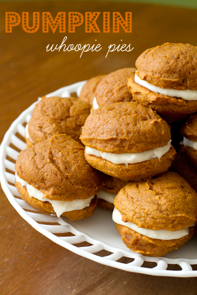 Pumpkin Whoopie Pies with Maple Cream Cheese Filling - poet in the pantry