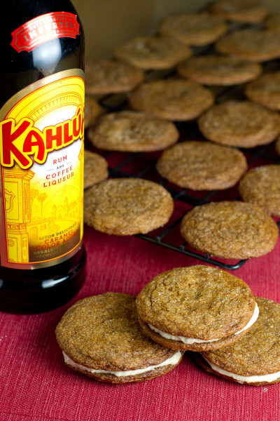 Molasses Cookies with Kahlúa Buttercream