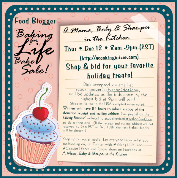 Baking for Life virtual bake sale