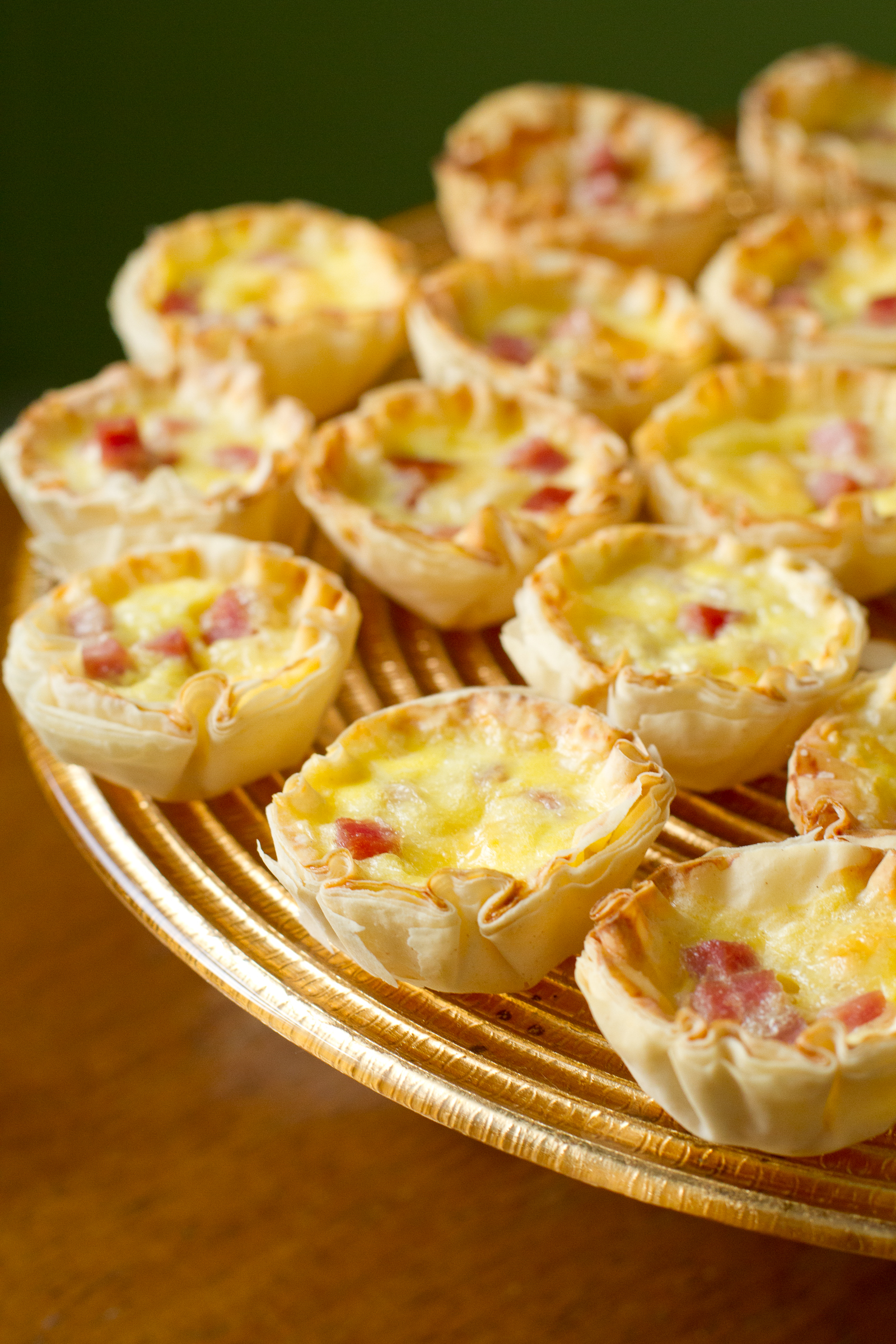 A Baby Shower for Omeletta! Mini Quiche Bites