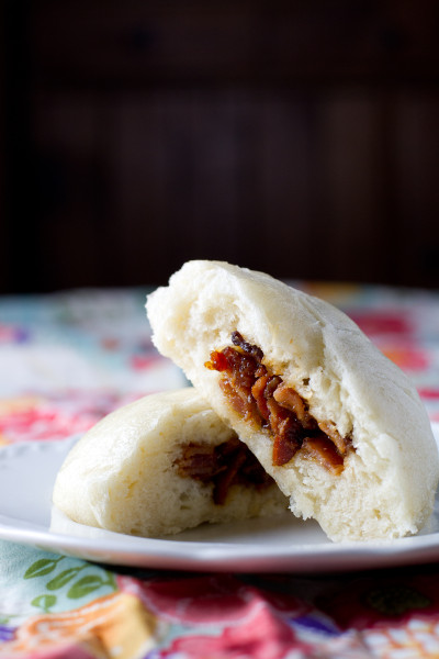 Steamed Bacon Buns