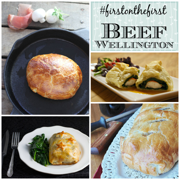 Beef Wellington #FirstOnTheFirst collage