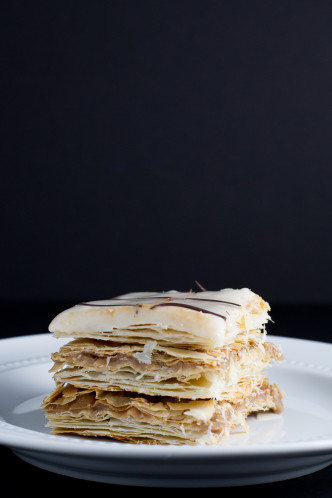 Mille Feuille with Nutella Pastry Cream