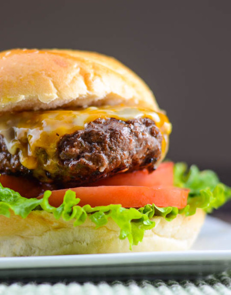 Asian BBQ Burger with Sriracha Mayo from Flavor Mosaic