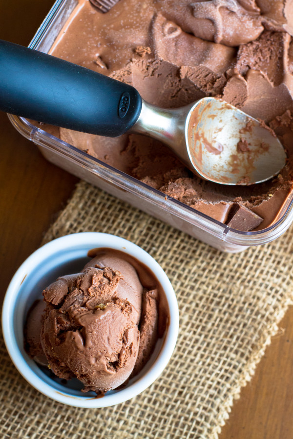 Chocolate Peanut Butter Cup Ice Cream - Poet in the Pantry