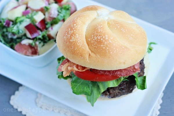 Jalapeno Popper Burger from One Sweet Appetite