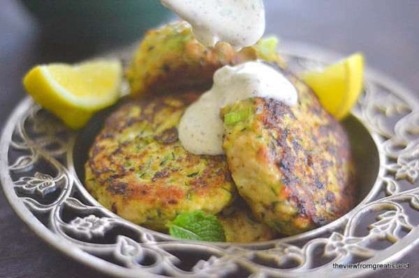 Turkey and Zucchini Burgers with Green Onion and Cumin from The View from Great Island