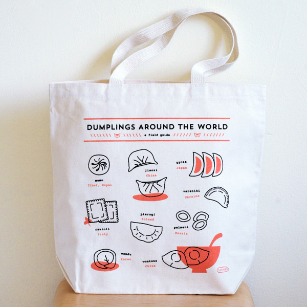 Dumplings Around the World tote bag from Plate & Pencil