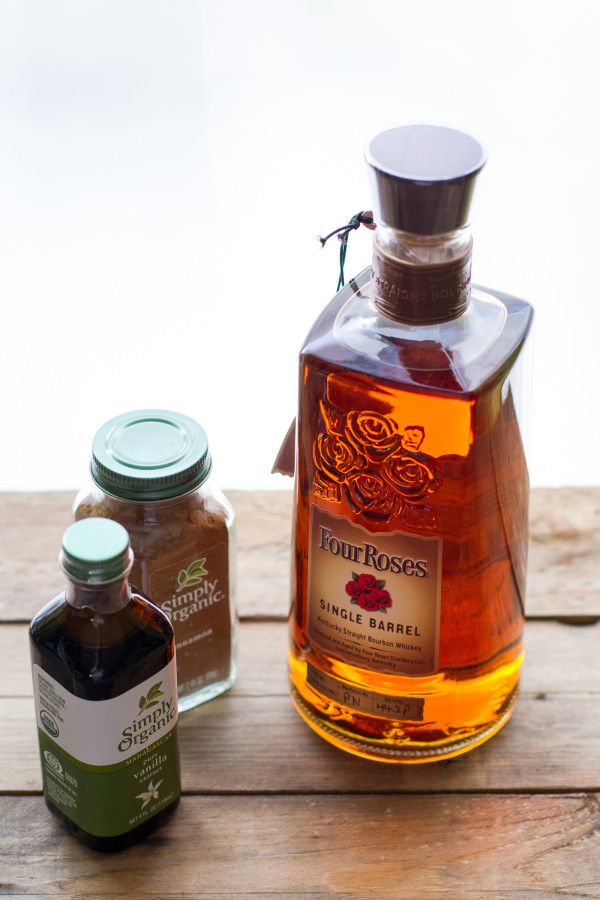 Frontier Spice vanilla extract and cinnamon and Four Roses Bourbon
