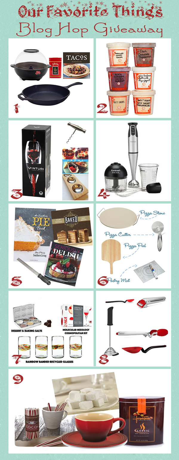 Our Favorite Things Blog Hop Giveaway