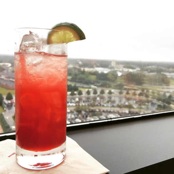 From the 15th floor of the Contemporary Resort at Walt Disney World, you get quite the view of the Magic Kingdom inside California Grill. Plus the food is great, too!