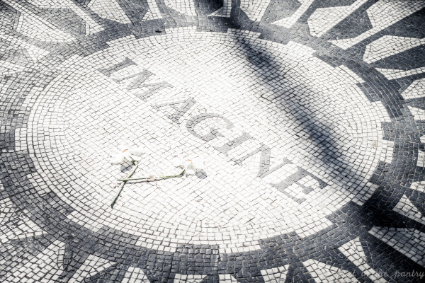 """Imagine"" mosaic at Strawberry Fields, Central Park, NYC - Poet in the Pantry"