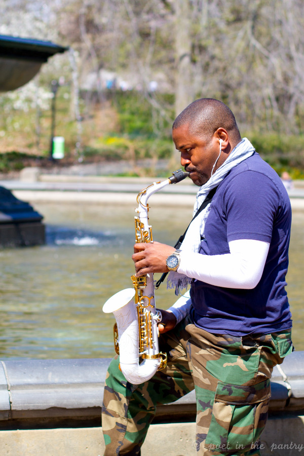 sax player in Central Park - Poet in the Pantry