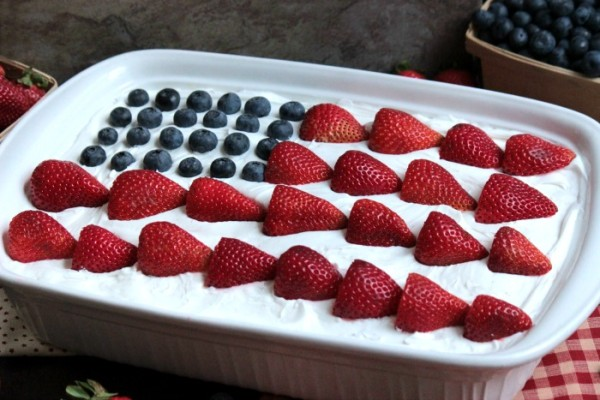 USA Flag Eclair from Big Bear's Wife