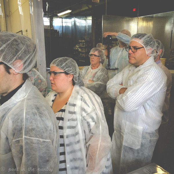 Sabra Tastemakers touring the Greek Yogurt Dip factory in New York. It's amazing how much they're able to produce in such a small facility--and how much it felt like being welcomed into a family.