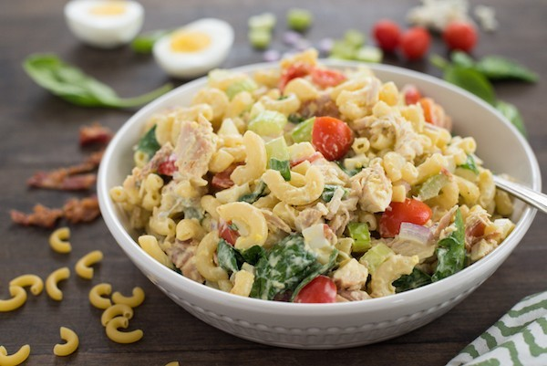 Chicken Cobb Macaroni Salad from Foxes Love Lemons