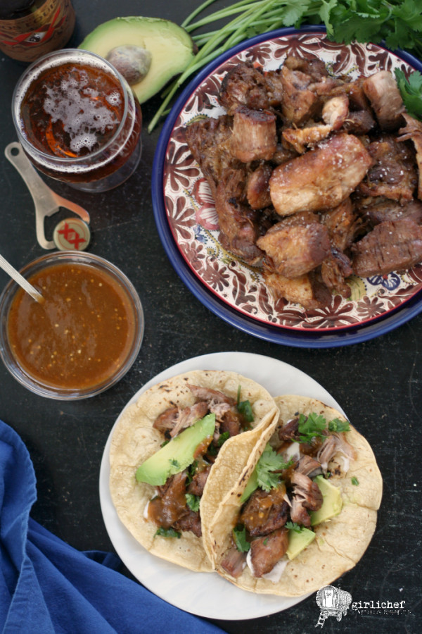 Beer Braised Pork Carnitas ~ Girlichef
