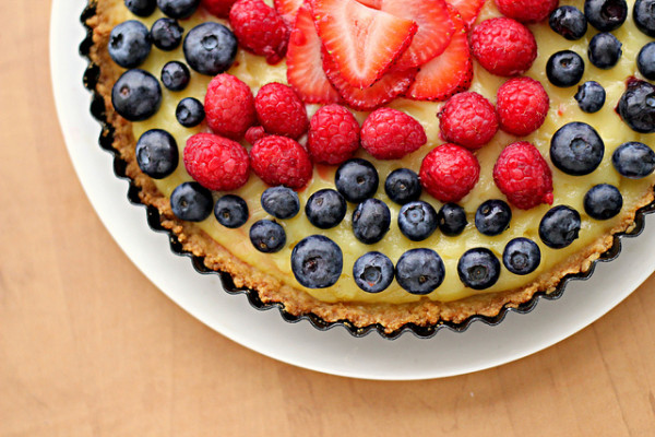 White Balsamic Custard Tart with Fresh Berry Topping from Eats Well With Others