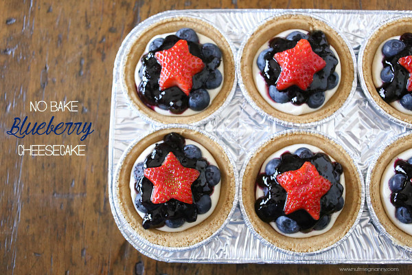 No Bake Blueberry Cheesecake from Nutmeg Nanny