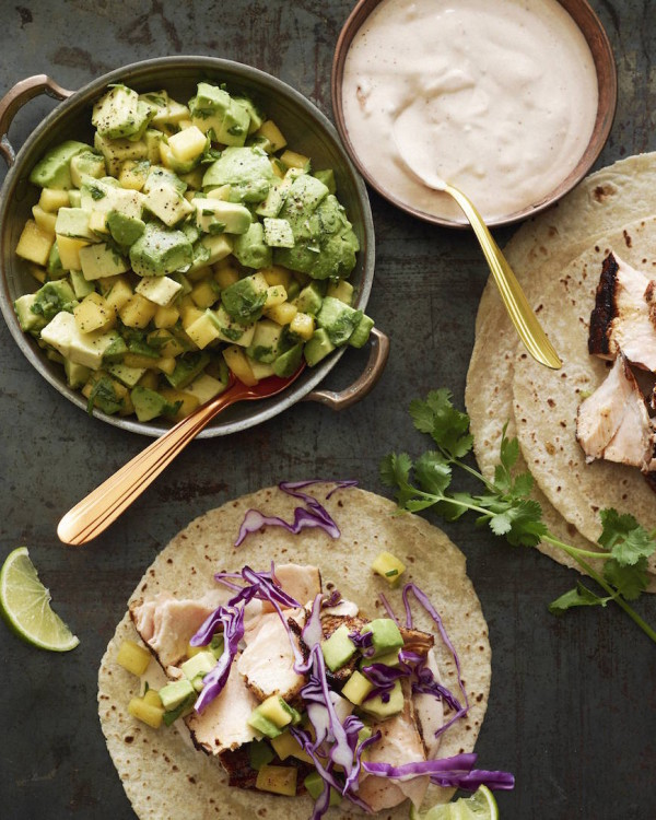 Chipotle Salmon Tacos ~ What's Gaby Cooking