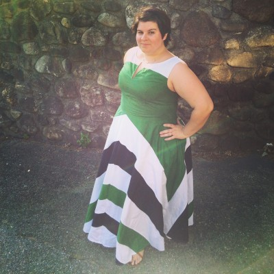 Maxi dresses are HOT right now, and this Chevron Stripe Colorblock Maxi Dress from eShakti is a winner!