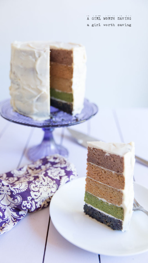 Paleo Rainbow Cake from A Girl Worth Saving