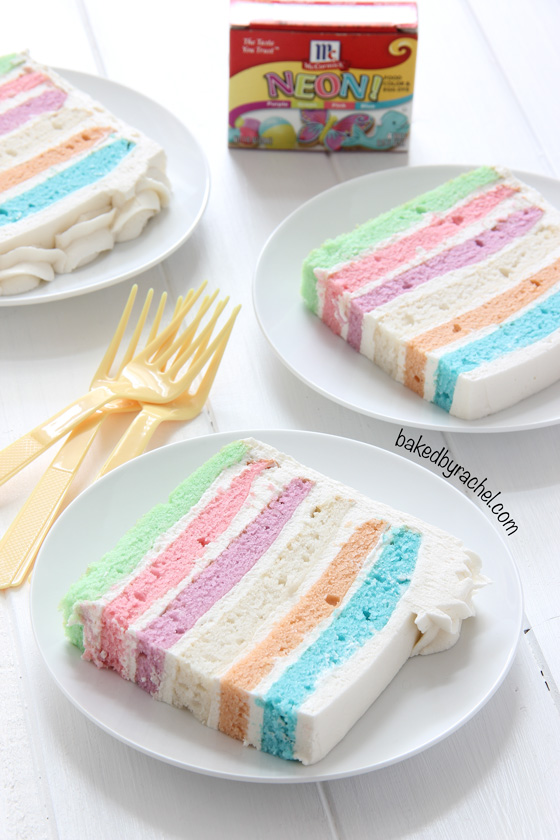 Square Pastel Layer Cake from Baked by Rachel