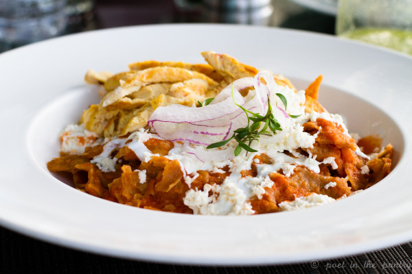 chilaquiles with chicken at The Diana Restaurant at The St. Regis Mexico City