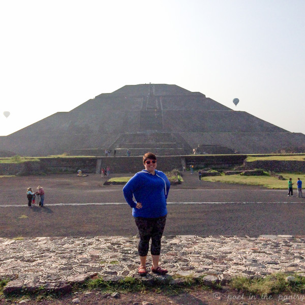 Before climbing the Sun Pyramid at Teotihuacan. Photo by Joanne López
