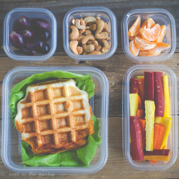 Pizza Hummus Biscuit Waffles will be the hit of the lunch table!