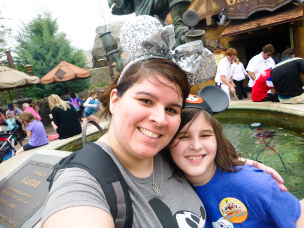 Mags and I at Magic Kingdom, Disney World