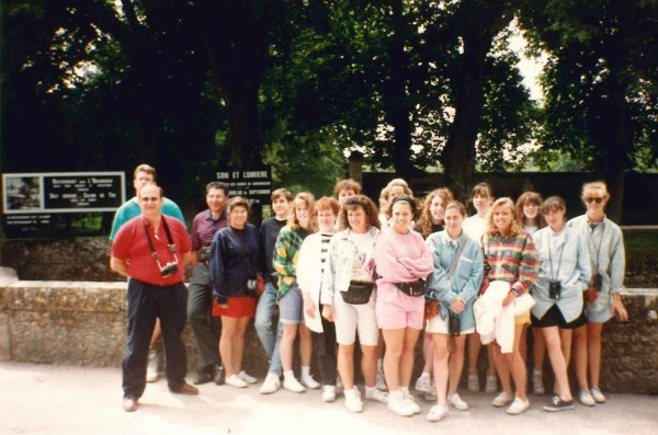 July 15, 1992 - Torrington High School French Club trip to Paris and the Loire Valley