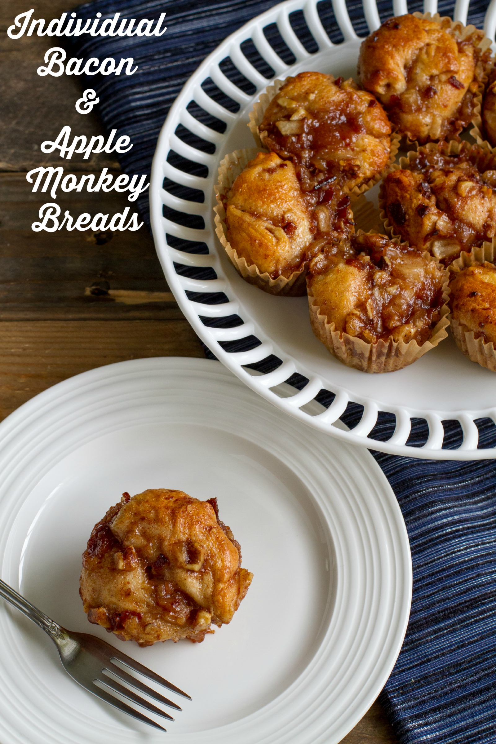 Individual Bacon and Apple Monkey Breads will make everyone at the breakfast table happy!