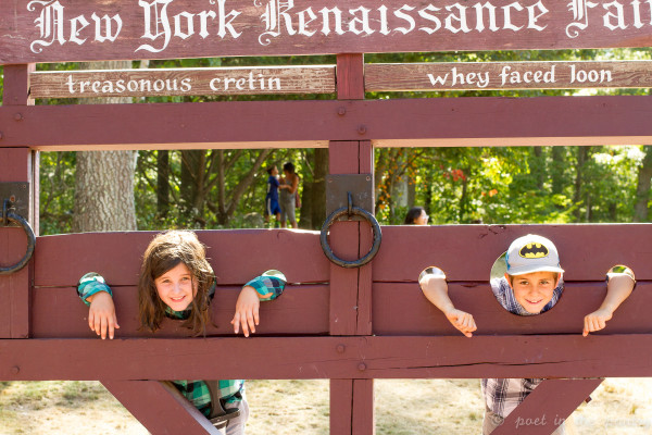 Bad kids go in the pillory - The New York Renaissance Faire
