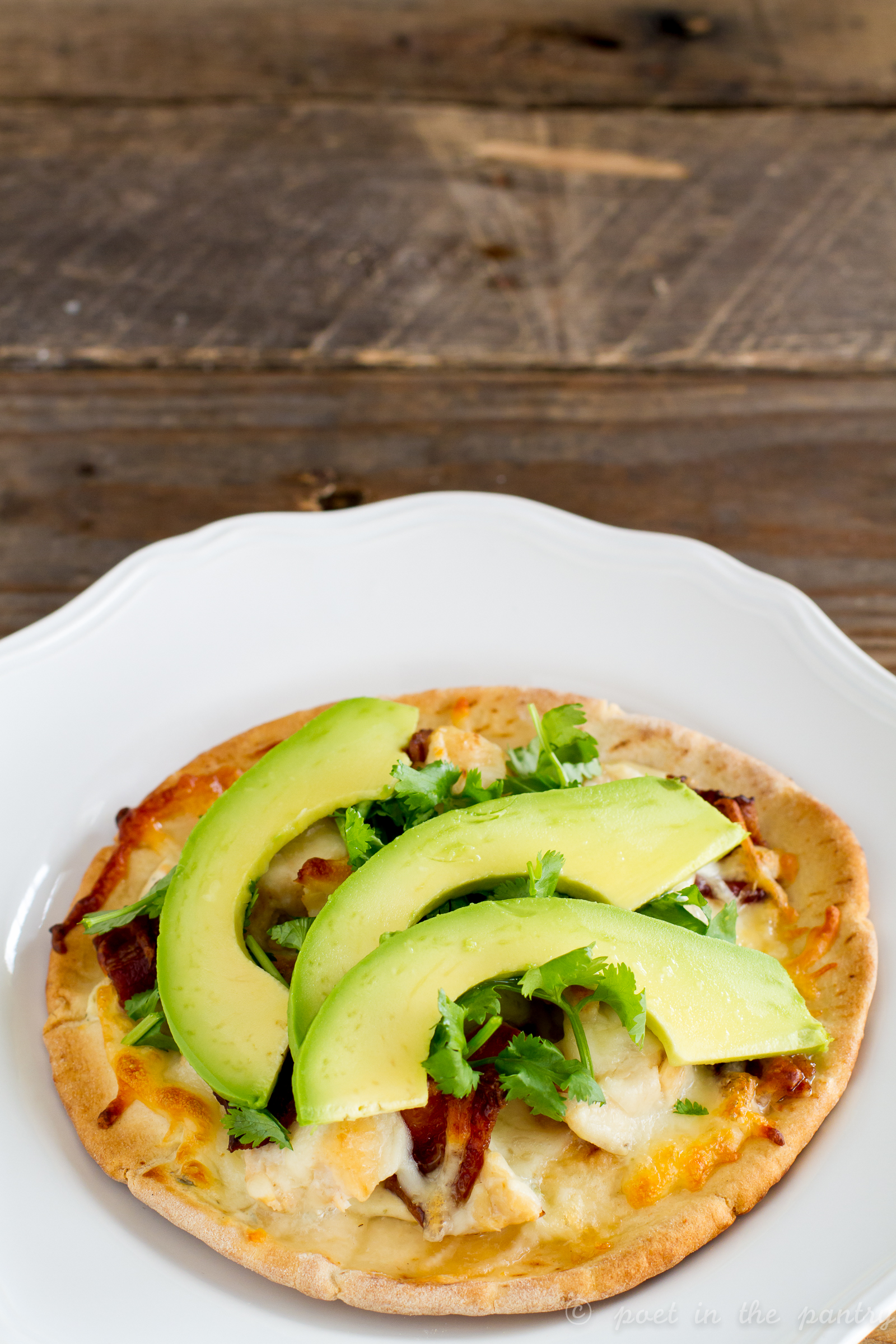 Bacon and Chicken Avocado Ranch Pizza are a quick and easy lunch or dinner!