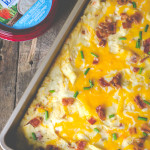 Bacon Ranch Twice Baked Potato Casserole gives you all the flavor without the hard work!