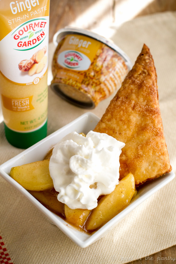 Turn your pie on its head with a Deconstructed Ginger Apple Pie. It'll knock your socks off!