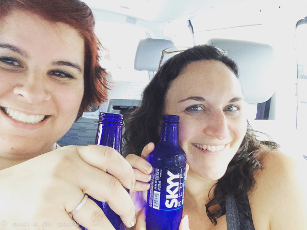 One of the benefits of Canada Transfers in Cancún, Mexico is that you can pre-order cold drinks to be waiting for you in the van!