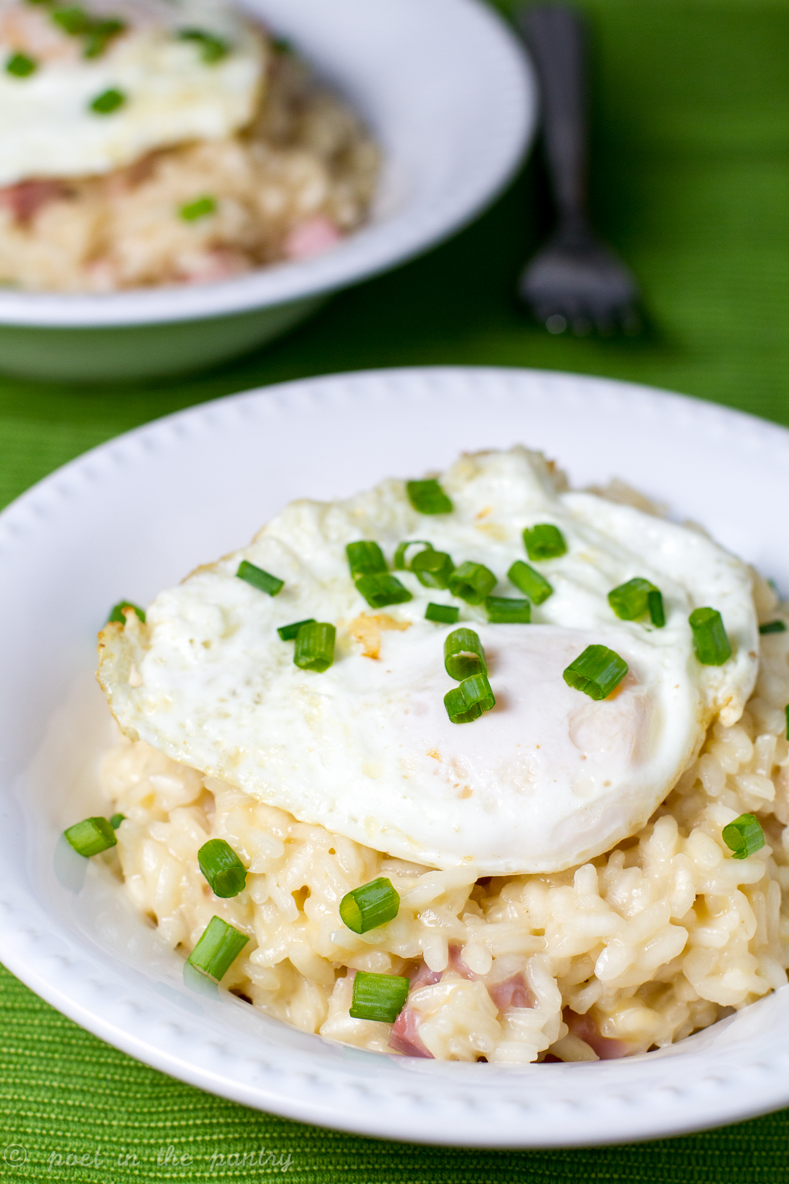 Take that leftover ham and transform it into Breakfast Risotto! #sponsored