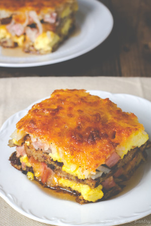 Breakfast Lasagna: A Great Use for Leftover Ham!