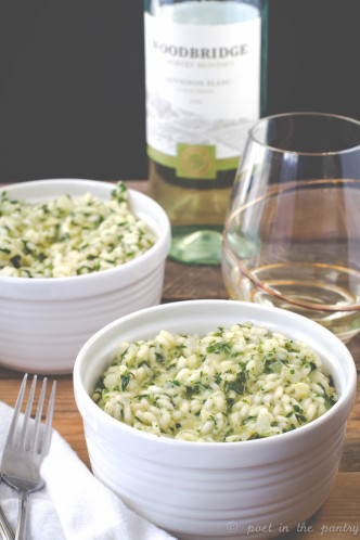 Risotto is made easy with Woodbridge by Robert Mondavi and Gourmet Garden! Both are sponsors for #FreshTastyValentines week!