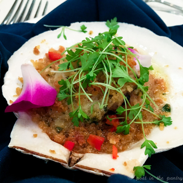 Coquille Saint Jacques from the recent Homage to Fromage dinner at Saybrook Point Inn & Spa {sponsored post}