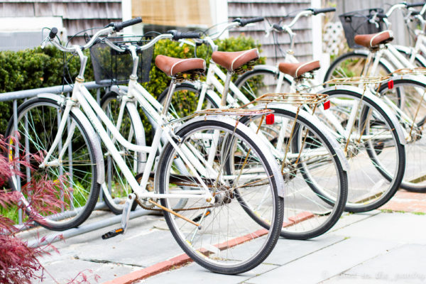 The best way to get around Edgartown: by bike! They're readily available. {sponsored post}